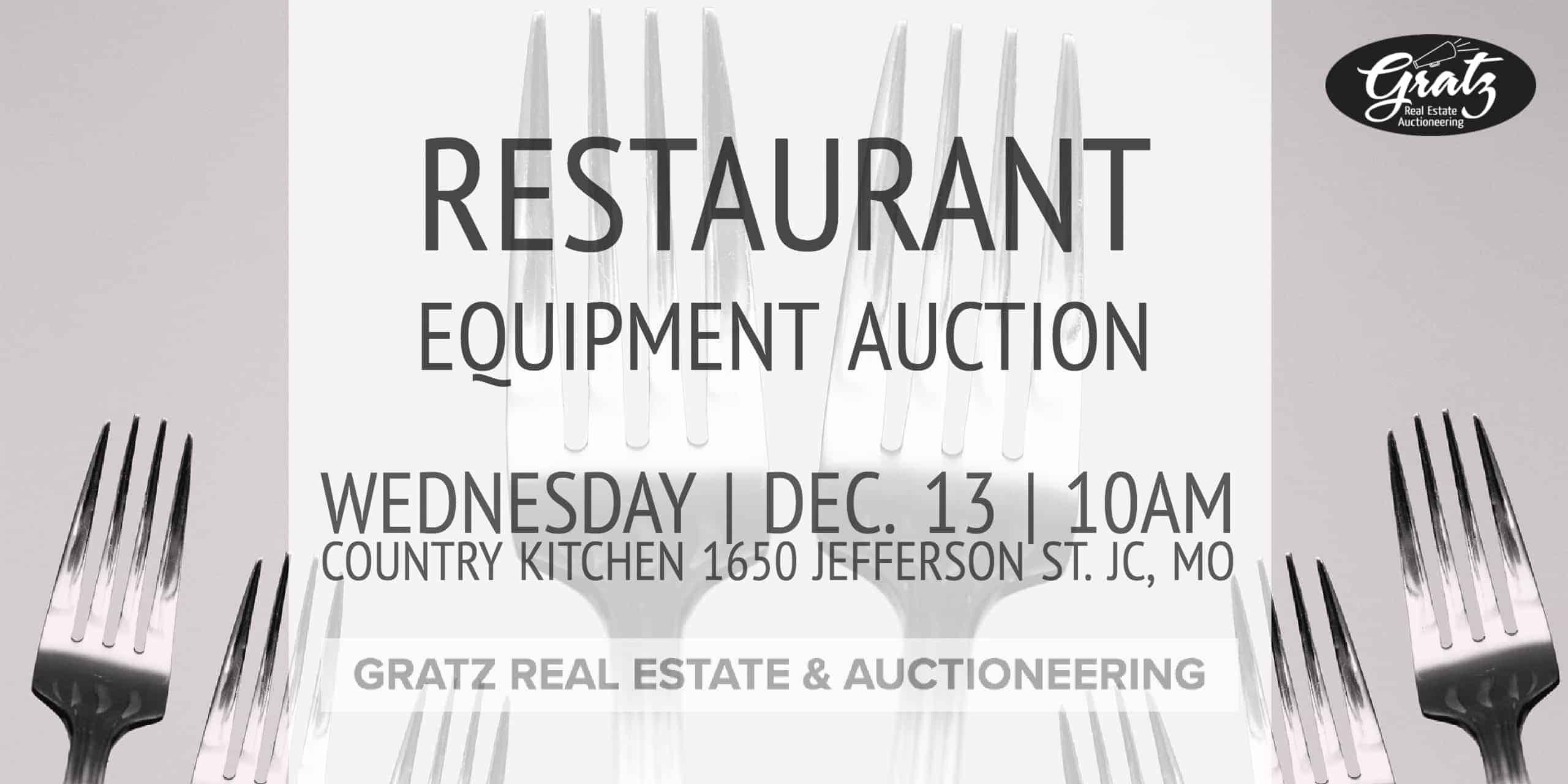 Restaurant Equipment Auction Country Kitchen Jefferson City Mo