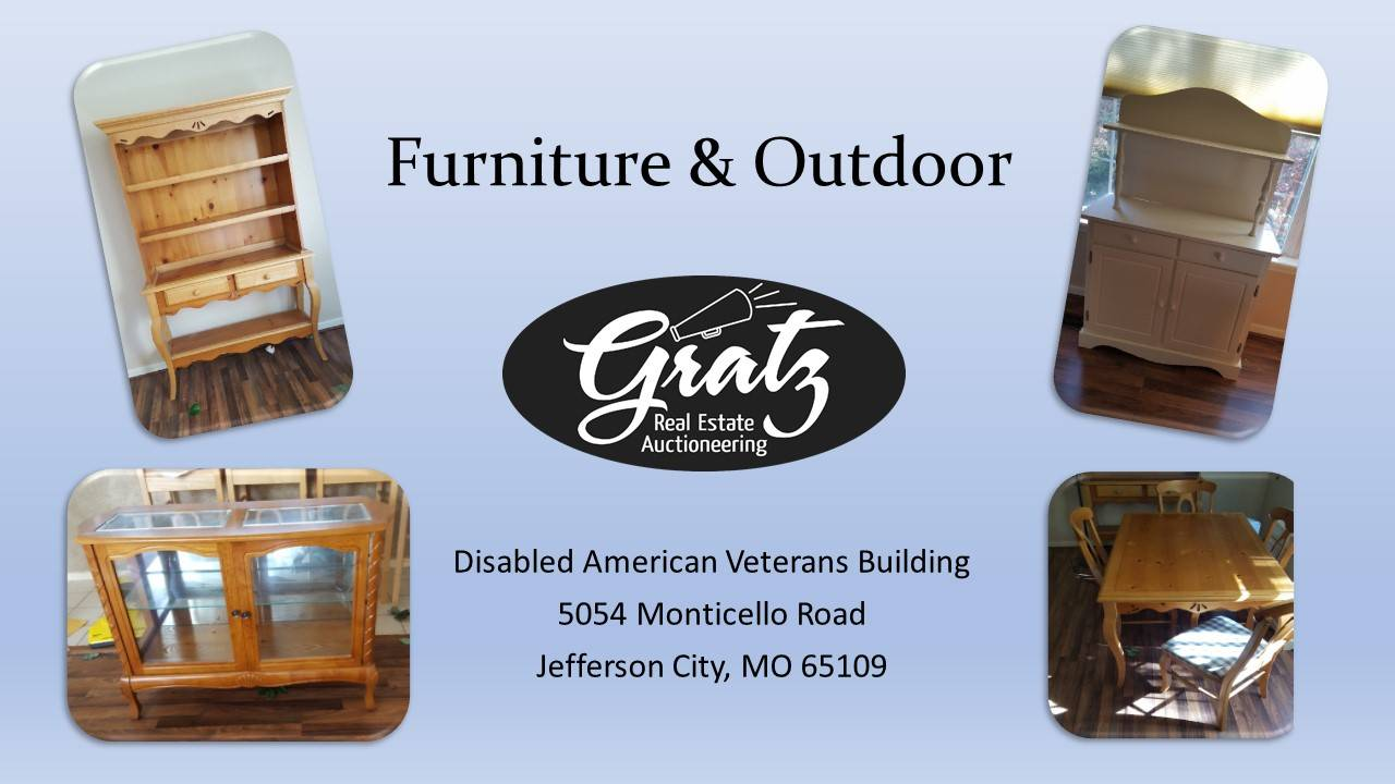 Furniture outdoor auction dav jefferson city mo for Furniture 8 mile